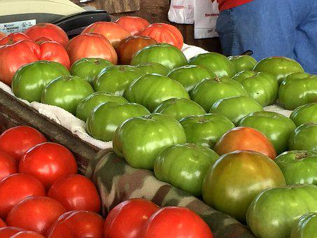 Farmers Market, Tomatoes, Garden, Farmer, Stand, Market