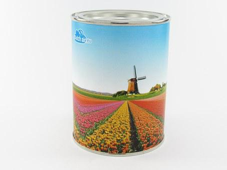 Glance, Tin, White, Metal, Paper, Container, Gift, Lids
