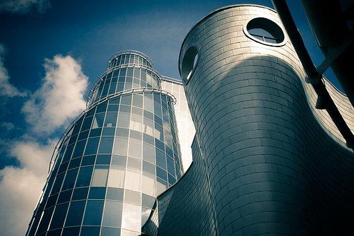 Warsaw, Building, Glass, Aluminium, Tower, Poland