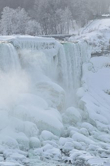 Bridal Veil Falls, Niagara Falls, Winter, Ice, Snow