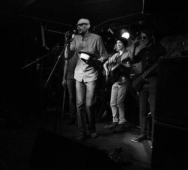 Music, Group, Light, Rock, Club, People, Concert, Hat