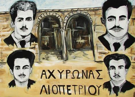 Cyprus, Liopetri, Graffiti, Heroes, Achyronas