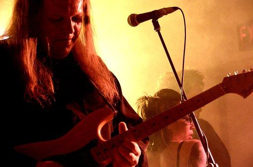 Electric Guitar, Rock Band, Guitar Player, Music