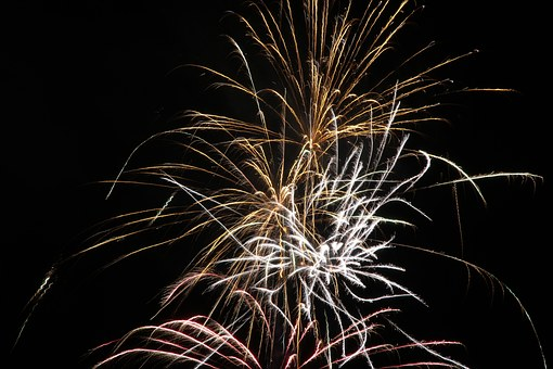Fireworks, New Year's Eve, Sylvester, New Year's Day