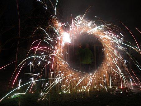 Pyrotechnics, Fireworks, Sparkler, New Year's Eve