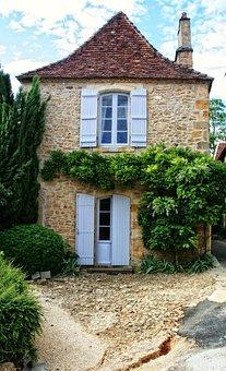 France, Dordogne, Périgord, Limeuil, House, Old Stone