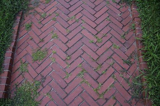 Road, Bricks, Grass, Street, Path, Urban, Stone, Ground