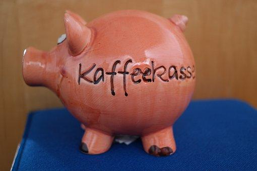 Piggy Bank, Coffee Checkout, Checkout, Pig
