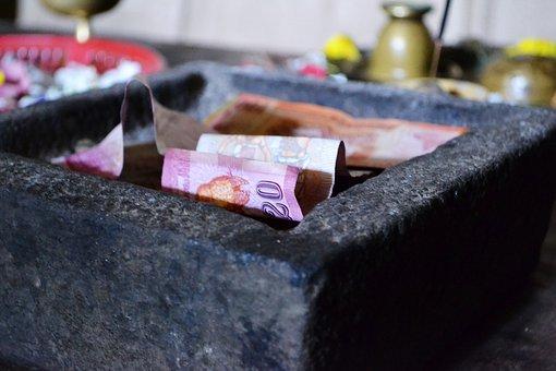 Money, Currency, Donations, Charity, Polonnaruwa