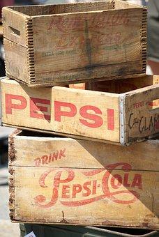 Pepsi, Pop, Soda, Vintage, Marketing, Crates, Wood