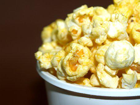 Popcorn, Corn, Pop, Box, Bucket, Cinema, Bag