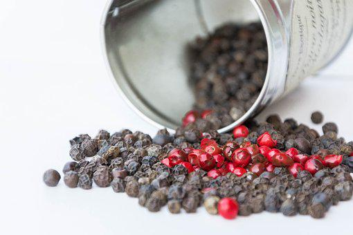 Pink Pepper, Black Pepper, Spices, Red, Box, Kitchen
