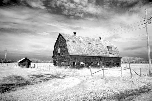 Barn, Farm, Scheuer, Agriculture, Old, Building, Roof