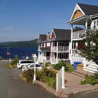Saint Donat, Canada, Lake, Quebec, Summer, House, Water