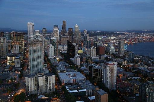Seattle, Skyline, Washington, City, Urban, Cityscape