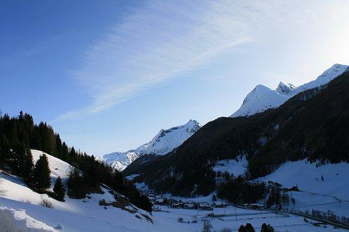Winter, Mountains, Snow, Ski Run, Landscape, Holiday