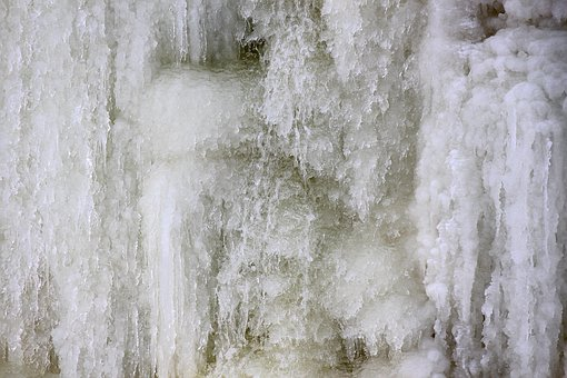 Waterfall, Frozen, Ice, Water, Snow, Cold, Winter