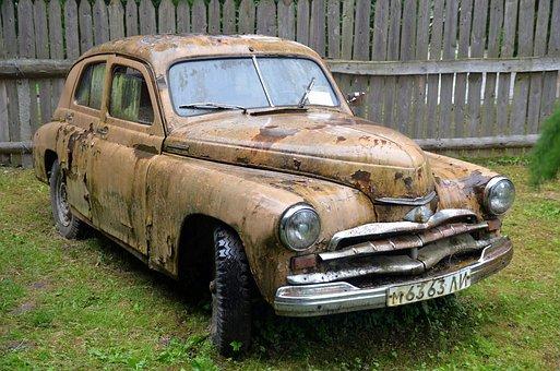Old, Soviet, Car, Russian, Ussr, Vintage, Rust, Gaz