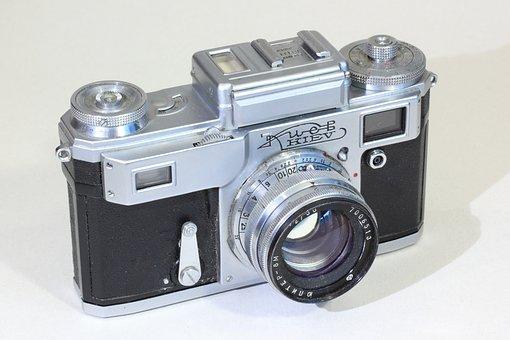 Kiev, Rangefinder, Camera, Soviet, Russian, Vintage