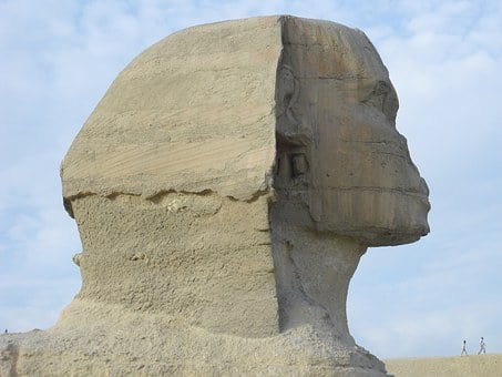 Sphinx, Egypt, Cairo, Old, Giza, Stone Head, Hyman Head