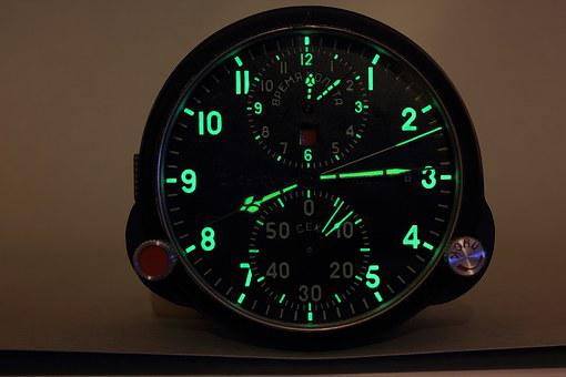 Military, Aircraft, Russian, Clock, Chronometer, Time