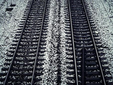 Gleise, Snow, Train, Winter, Railway, Rails