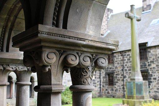 Abbey, Cloister, Architecture, Building, Landmark