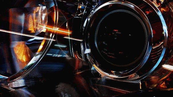 Headlights, Glisten, Shiny, Cristal, Car, Automobile