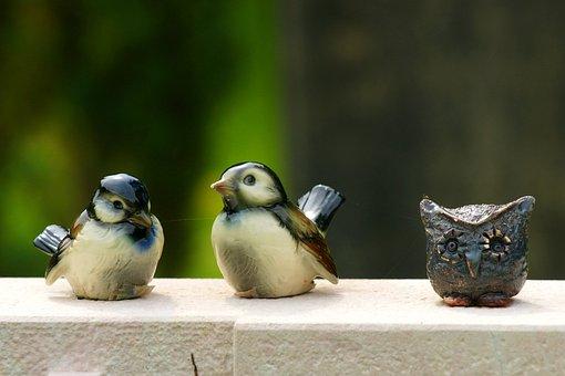 Birds, Decoration, Statue, Sculpture, Art, Deco
