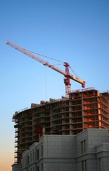 Building, Construction, Crane, Site, Work, Industrial