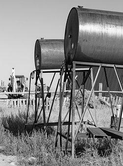 Rural, Farm, Farming, Gas Tanks, Tractor, Country