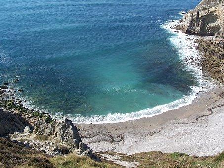 Sea, Crozon, Rocks, Creek