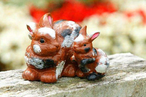Rabbit, Harmony, Cemetery, Sweet, Deco, Mourning