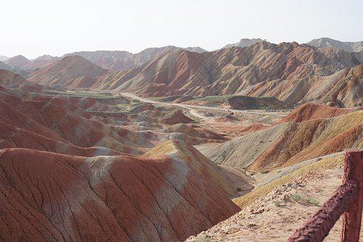 Zhangye, Early In The Morning, Colorful Danxia