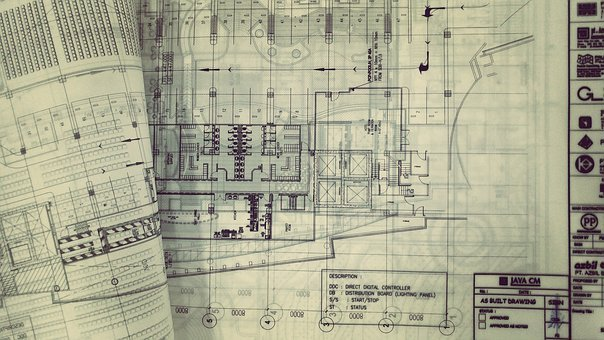 Construction, Drawing, Engineering, Tracing Paper