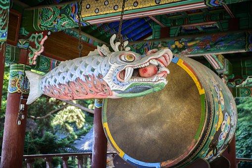 Law And, Temple, North, Fish, Republic Of Korea