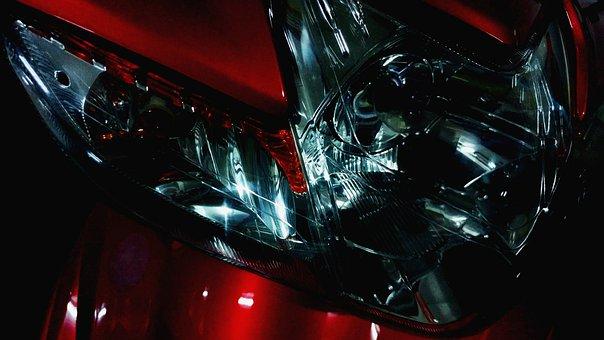 Headlight, Reflector, Flashlight, Glass, Automotive