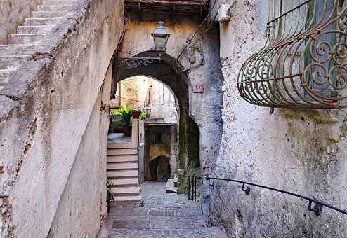 Old Town, Scalea, Narrow Lane, Old Houses, Village