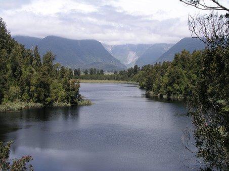 New, Zealand, Lake Matheson, New Zealand, Nature