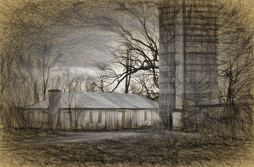 Haunted, Farm, Old, Halloween, Scary, Wooden, Abandoned