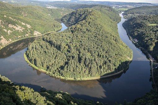 Saar Loop, Nature, River, Landscape, Outlook, Saarland