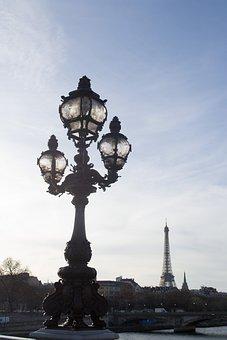 Paris, Seine, Lamppost, Lamp, Light, France, River