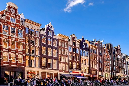 Amsterdam, Street, People, Shopping, Busy, Tourism
