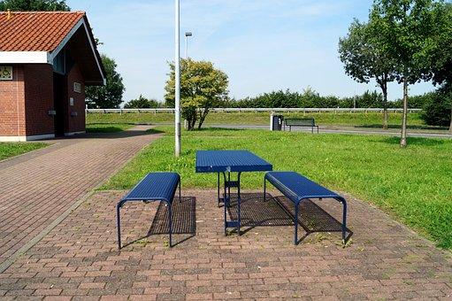 Resting Place, Raststätte, Bank, Table
