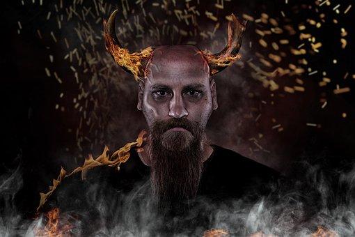 Devil, Evil, Hell, Daemon, Fire, Horror, Horns, Red