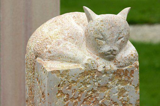 Cat, Figure, Sculpture, Cemetery, Art, Hope, Statue