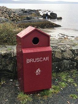 Ireland, Summer, Coast, Garbage Can, Sea, Cliffs
