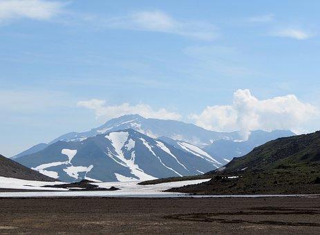 The Mutnovsky Volcano, Steam Release, Mountain Plateau