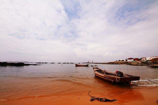 The Sea, Beach, The Solitary Sail, Boat