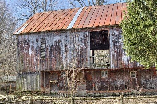 Barn, Rustic, Abandoned, Weathered, Barns, Ohio